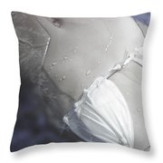 Young Woman In Whirl Pool Throw Pillow