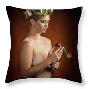 Young Woman Nude 1729.175 Throw Pillow