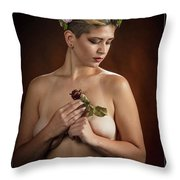 Young Woman Nude 1729.177 Throw Pillow