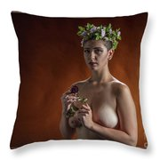 Young Woman Nude 1729.178 Throw Pillow