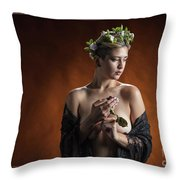 Young Woman Nude 1729.179 Throw Pillow
