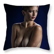 Young Woman Nude 1729.184 Throw Pillow