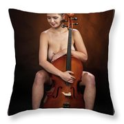 Young Woman Nude 1729.189 Throw Pillow