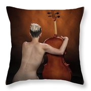 Young Woman Nude 1729.190 Throw Pillow