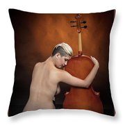 Young Woman Nude 1729.191 Throw Pillow