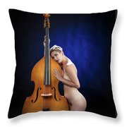 Young Woman Nude 1729.195 Throw Pillow