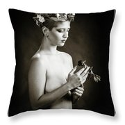 Young Woman Nude 1729.550 Throw Pillow