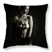 Young Woman Nude 1729.556 Throw Pillow