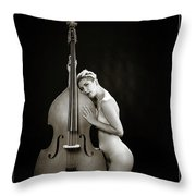 Young Woman Nude 1729.570 Throw Pillow