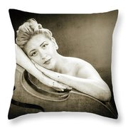 Young Woman Nude 1729.573 Throw Pillow