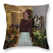 Young Women In Spring Throw Pillow