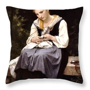 Young Worker 1869 Throw Pillow