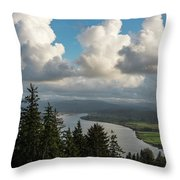 Youngs Bay And Clouds Throw Pillow