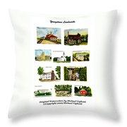 Youngstown Landmarks Montage 2 Throw Pillow
