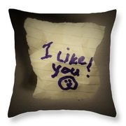 Your 1st Love Note Throw Pillow
