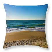 Your Beach Is Calling Throw Pillow