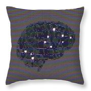 Your Brain On Bad Tv Throw Pillow