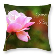 Your In My Thoughts Painting Throw Pillow
