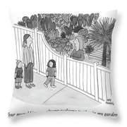 Your Munchkins Are Always Welcome To Play In My Garden Throw Pillow