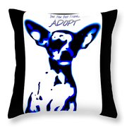 Your New Best Friend Adopt Throw Pillow