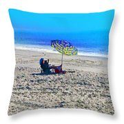 Your Own Private Beach Throw Pillow