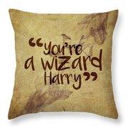 You're A Wizard Harry Throw Pillow