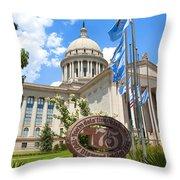 You're Doin' Fine Oklahoma Throw Pillow