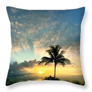 You're Never Alone With A Sunrise Throw Pillow
