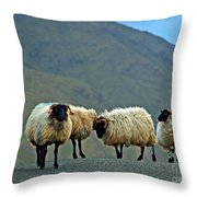 You're On Our Turf Now Throw Pillow