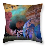 You're Safe In My Hands Throw Pillow