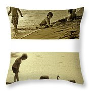 Youth At The Water Throw Pillow