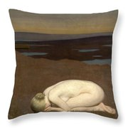 Youth Mourning Throw Pillow