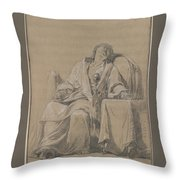 Youth Sleeping In A Chair Throw Pillow