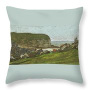 Yport And The Falaise D'aval Throw Pillow