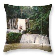 Ys Falls Jamaica Throw Pillow