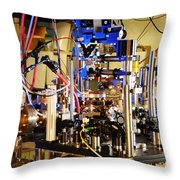 Ytterbium Lattice Atomic Clock Throw Pillow