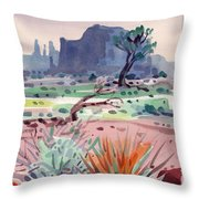 Yucca And Buttes Throw Pillow
