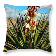 Yucca Bloom Throw Pillow