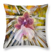 Yucca Dreaming Of Orchids Throw Pillow