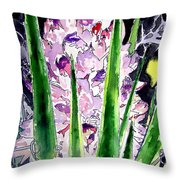 Yucca Flower Plant Southwestern Art Throw Pillow