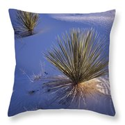 Yucca In Gypsum Sand Throw Pillow