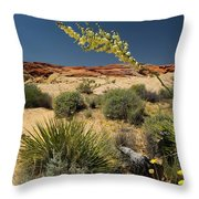 Yucca In The Valley Of Fire Throw Pillow