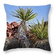 Yucca Pair Throw Pillow