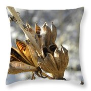 Yucca Pods Throw Pillow