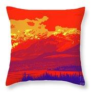 Yukon Mountain Range 4 Throw Pillow
