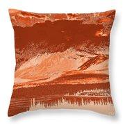 Yukon Mountain Range 5 Throw Pillow