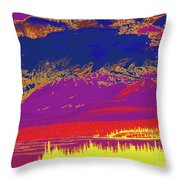 Yukon Mountain Range 7 Throw Pillow