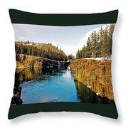 Yukon River And Miles Canyon - Whitehorse Throw Pillow