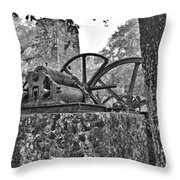 Yulee Sugar Mill Ruins Hrd Throw Pillow