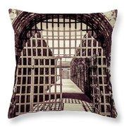 Yuma Territorial Prison Gate Throw Pillow